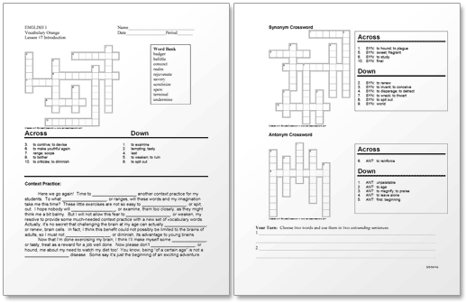 Picture of sample worksheet
